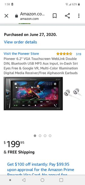 Pioneer touchscreen car radio for Sale in Compton, CA