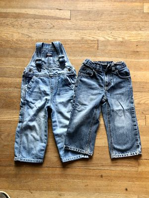 24mo/2T denim jeans and overalls for Sale in Portland, OR