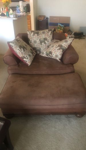Big Comfy Chair and Ottoman for Sale in Cave Spring, VA