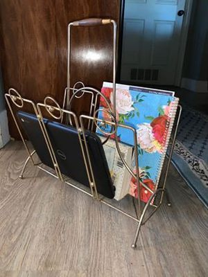 Gold Vintage Magazine Rack for Sale in Salem, OR