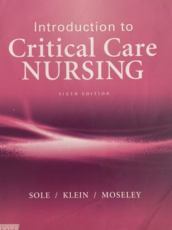 Intro To Critical Care NURSING TEXTBOOK for Sale in Casselberry,  FL