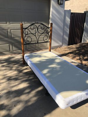 Twin box spring XL with headboard and frame for Sale in Payson, AZ