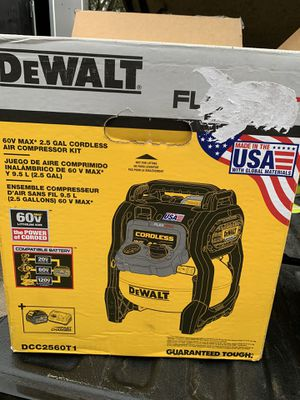 DEWALT FLEXVOLT 2.5 Gal. 60-Volt MAX Brushless Cordless Electric Air Compressor (tool only) no charger no battery for Sale in Humble, TX