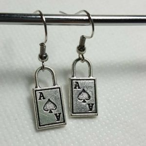 Solitare Shape 925 Sterling Silver Charms Earring -Gorgeous looking Earring -Perfect for all occasions for Sale in Queens, NY