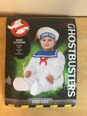 GHOSTBUSTERS STAY PUFT COSTUME GREAT FOR BIRTHDAY OR DRESS UP BABY 6-12 MONTHS for Sale in Fontana, CA