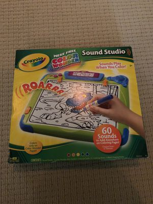 Crayola Color Wonder Sound Studio(Retired) for Sale in Houston, TX