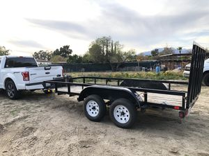 2012 Big Tex Trailer 14ft Electric Winch and Jack for Sale in San Bernardino, CA