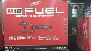 Milwaukee M18 fuel 3 tool combo kit model 2997 - 23 brand new in box fits all M18 batteries redlithium XC 5.0 for Sale in Fort Lauderdale, FL