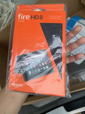 Amazon Fire HD 8 Tablet Case 7th 8th Gen 2018 2017 Charcoal Open box some box damage due to shelf wear Never used for Sale in Norcross, GA