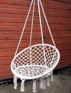 """New in box 32"""" wide x 47"""" inches tall Hammock Chair Macrame Swing Boho Style Cotton Rope Chair Indoor Outdoor 260 lbs Capacity Without Pillow for Sale in Los Angeles, CA"""