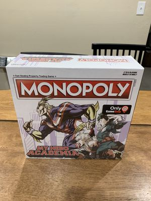 Monopoly My Hero Academia Gamestop Exclusive Board Game Hasbro Stain's Knife NIB for Sale in Fremont, CA