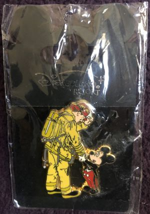 Disney Pin of Mickey Mouse Shaking a Firefighter's Hand for Sale in Hacienda Heights, CA