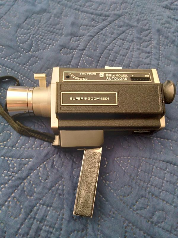 Vintage video camera and video camera equipment.