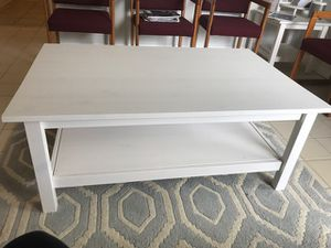 Ikea Hemnes Coffee Table & 2 Side Tables-White for Sale in West Palm Beach, FL