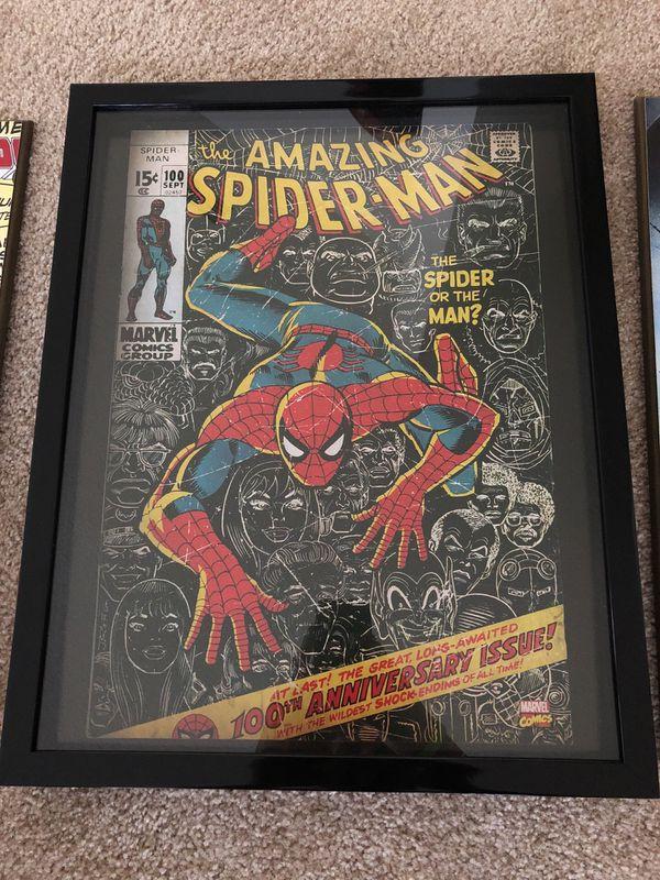 Marvel Deadpool Spider-Man Captain America Frames