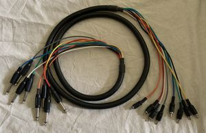 "6ft 8-Channel 6.35mm 1/4"" inch TS Male to RCA Male Pro Audio Snake Cable for Sale in West Covina, CA"