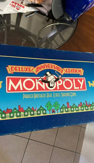 Vintage Collectible - Monopoly - Deluxe Anniversary Edition - 1985 - Complete for Sale in Tucson, AZ
