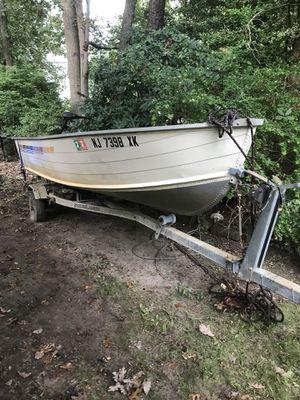 16' aluminum boat for Sale in Jackson, NJ