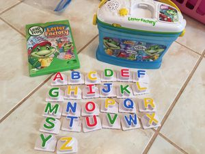 Leap Frog Letter Factory & DVD for Sale in Mansfield, TX