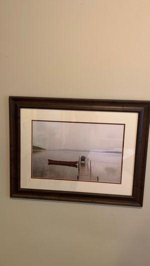 Framed canoe art for Sale in Saint Paul, MN