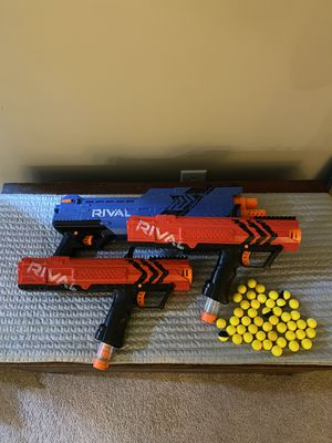 NERF RIVAL SHOOTERS WITH 50+ ct BALLS for Sale in Cumming, GA