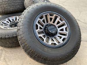 """17"""" Dodge Ram 1500 wheels 5x5.5 Rims tires Jeep Wrangler for Sale in Rio Linda, CA"""