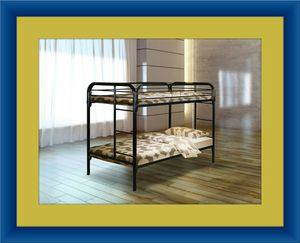 Twin bunk bed frame with mattress for Sale in Silver Spring, MD