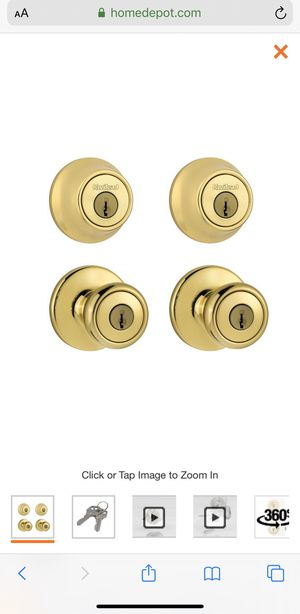 BRAND NEW KWIKSET COMBO PACK POLISHED BRASS for Sale in Richmond, CA