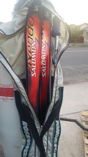 Salomon skis, poles, bag for Sale in Prineville, OR