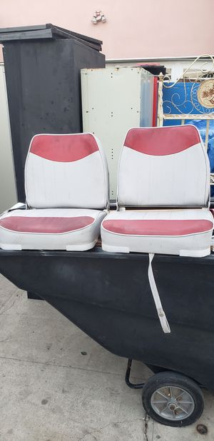 2 boat 🚢 seats Boat seats very good condition for Sale in Fullerton, CA