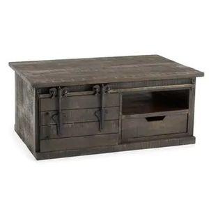 Wyatt dark grey barndoor coffee table for Sale in Fort Wayne, IN