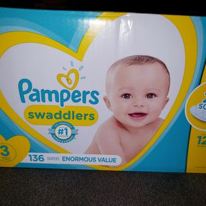 Pampers Swaddlers Size 3 for Sale in Dallas, GA