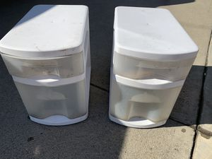 Plastic drawers- 2 for 5.00 for Sale in Glendora, CA