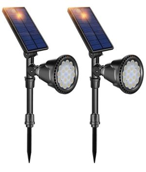 DBF Solar Lights Outdoor, Upgraded 18 LED Waterproof Solar Spotlights Solar Landscape Lights Auto On/Off Wall Security Lighting for Garden Yard Pathw for Sale in Montebello, CA