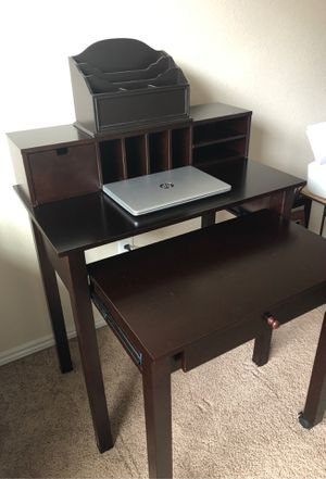 Home office desk with hutch and file organizer like new and excellent condition for Sale in Webberville, TX