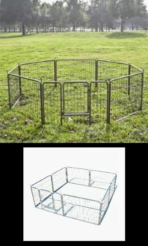 "New 24"" Tall x 32"" Wide Panel Heavy Duty 8 Panels Dog Playpen Pet Safety Fence gate valla Para perros (tarp not included) for Sale in El Monte, CA"