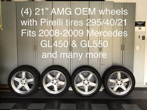 "21"" Mercedes AMG wheels w/ Pirelli tires GL350/GL450/GL550 for Sale in Clearwater, FL"