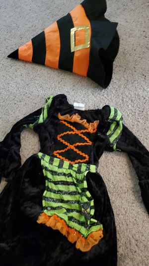 Toddler 2t witch costume dress with hat for Sale in Laveen Village, AZ