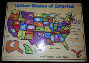 U.S.A. PUZZLE (STATES, CAPITALS, & BODY o WATER for Sale in Houston, TX