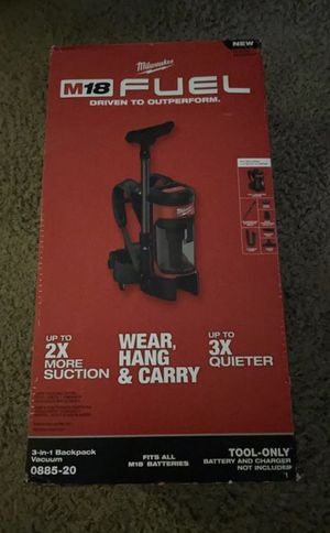 Milwaukee fuel backpack vacuum brand new in box for Sale in Azusa, CA