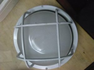 White metal and glass light fixture for Sale in Commerce, CA