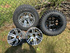 Golf cart wheels and tires. for Sale in Greenville, SC