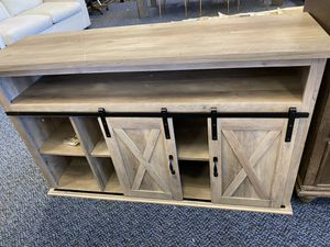 New Grey TV Stand With Sliding Doors for Sale in Virginia Beach, VA