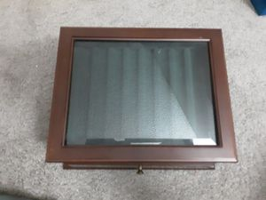 Pen collection wooden/glass box for Sale in Phoenix, AZ