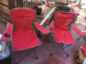 Two red camping chairs for Sale in Rosemead, CA