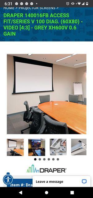 Draper electric projection screens for Sale in Oak Glen, CA