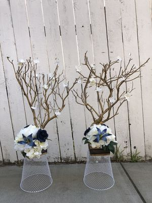 TWO 31-32 inch Gold Manzanita tree decor/wedding for Sale in Oakland, CA