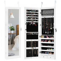 P26-24 .... Wall Mounted Lockable Mirror Jewelry Cabinet with LED Light for Sale in Diamond Bar,  CA