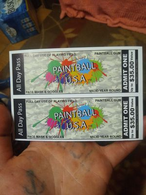 Paintball USA all day pass valid year round for Sale in Liberty, MO