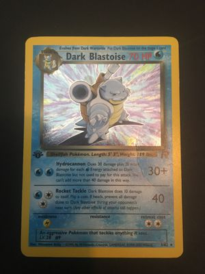 Pokemon 1st edition Holo Dark Blastoise for Sale in Montgomery, NJ